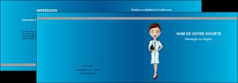 creer modele en ligne depliant 2 volets  4 pages  infirmier infirmiere medecin docteur infirmier MLGI44823