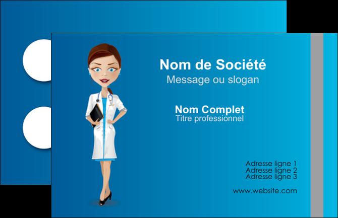 faire modele a imprimer carte de visite infirmier infirmiere medecin docteur infirmier MIF44829
