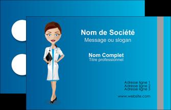 faire modele a imprimer carte de visite infirmier infirmiere medecin docteur infirmier MIS44829