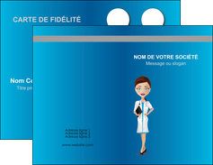 personnaliser maquette carte de visite infirmier infirmiere medecin docteur infirmier MLGI44831