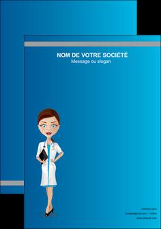 faire modele a imprimer flyers infirmier infirmiere medecin docteur infirmier MIS44841