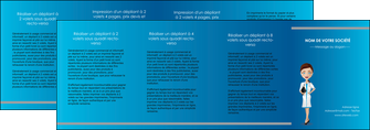 maquette en ligne a personnaliser depliant 4 volets  8 pages  infirmier infirmiere medecin docteur infirmier MIS44845
