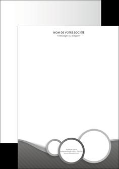 Commander Papier à lettre  modèle graphique pour devis d'imprimeur Tête de lettre A4