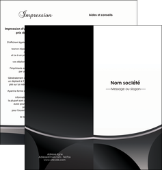 impression depliant 2 volets  4 pages  texture structure design MIF44945