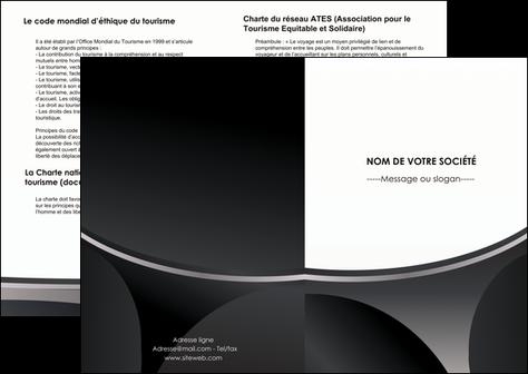faire modele a imprimer depliant 2 volets  4 pages  texture structure design MLGI44957