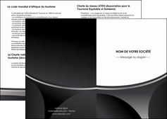 faire modele a imprimer depliant 2 volets  4 pages  texture structure design MIF44957