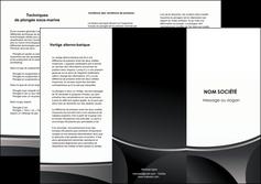 faire modele a imprimer depliant 3 volets  6 pages  texture structure design MIF44987