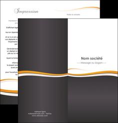 imprimer depliant 2 volets  4 pages  standard design abstrait MIF45095