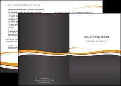 modele depliant 2 volets  4 pages  standard design abstrait MLGI45107