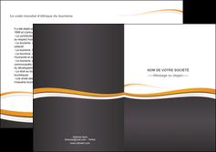 imprimer depliant 2 volets  4 pages  standard design abstrait MIF45111