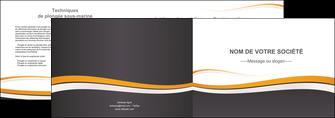 personnaliser modele de depliant 2 volets  4 pages  standard design abstrait MIF45123