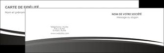 Commander Faire une carte de visite  Carte commerciale de fidélité modèle graphique pour devis d'imprimeur Carte de visite Double - Paysage
