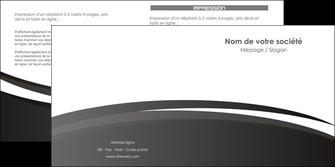 faire modele a imprimer depliant 2 volets  4 pages  standard design abstrait MIF45167