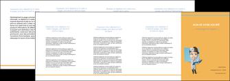 personnaliser modele de depliant 4 volets  8 pages  materiel de sante medecin medecine sante MIS45291