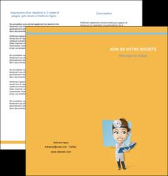 impression depliant 2 volets  4 pages  materiel de sante medecin medecine sante MIS45305