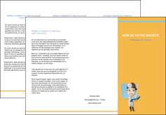 maquette en ligne a personnaliser depliant 3 volets  6 pages  materiel de sante medecin medecine sante MIS45307