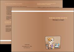 imprimer depliant 2 volets  4 pages  menagere femme femme au foyer MLGI45373
