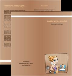 cree depliant 2 volets  4 pages  menagere femme femme au foyer MLGI45385