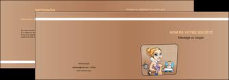 creer modele en ligne depliant 2 volets  4 pages  menagere femme femme au foyer MLGI45397