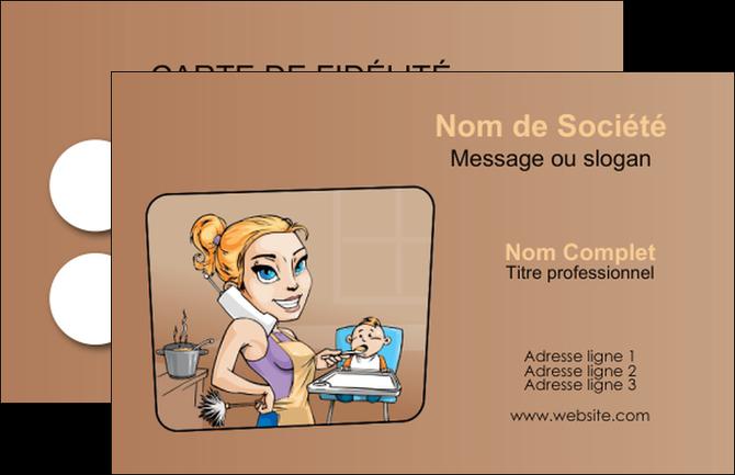 exemple carte de visite menagere femme femme au foyer MIF45403