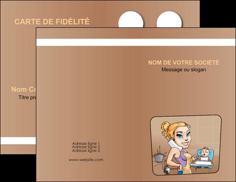 maquette en ligne a personnaliser carte de visite menagere femme femme au foyer MIF45405