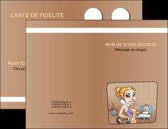 maquette en ligne a personnaliser carte de visite menagere femme femme au foyer MLGI45405