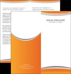 faire modele a imprimer depliant 2 volets  4 pages  standard design abstrait MLGI45571