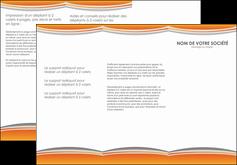 realiser depliant 3 volets  6 pages  standard design abstrait MLGI45577
