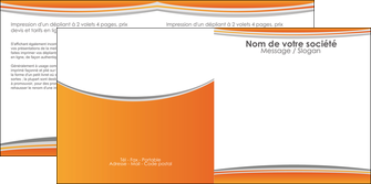 personnaliser modele de depliant 2 volets  4 pages  standard design abstrait MLGI45583