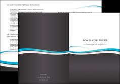 personnaliser modele de depliant 2 volets  4 pages  standard design abstrait MIF45711
