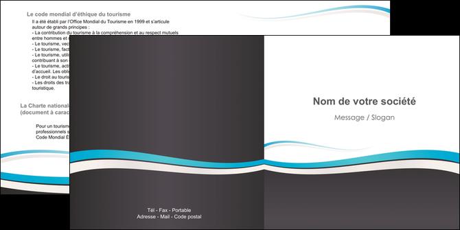 maquette en ligne a personnaliser depliant 2 volets  4 pages  standard design abstrait MLGI45713