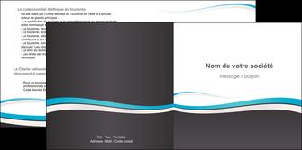 maquette en ligne a personnaliser depliant 2 volets  4 pages  standard design abstrait MIF45713