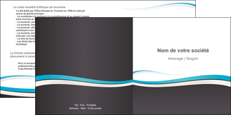 maquette en ligne a personnaliser depliant 2 volets  4 pages  standard design abstrait MLIG45713