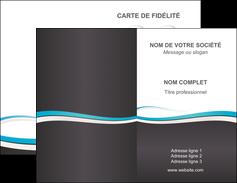 Commander Carte de visite double  Carte commerciale de fidélité papier publicitaire et imprimerie Carte de visite Double - Portrait