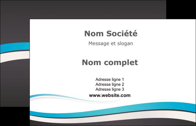 imprimerie carte de visite standard design abstrait MIF45719