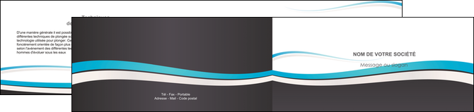 exemple depliant 2 volets  4 pages  standard design abstrait MLGI45723