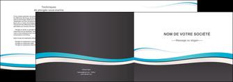 personnaliser maquette depliant 2 volets  4 pages  standard design abstrait MIF45725