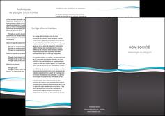 maquette en ligne a personnaliser depliant 3 volets  6 pages  standard design abstrait MIF45739