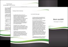 imprimer depliant 3 volets  6 pages  standard design abstrait MLGI45741