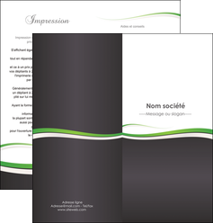 creation graphique en ligne depliant 2 volets  4 pages  standard design abstrait MIF45745