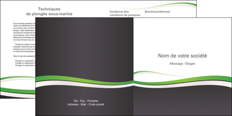 modele depliant 2 volets  4 pages  standard design abstrait MIF45751