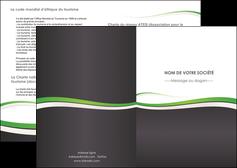 personnaliser modele de depliant 2 volets  4 pages  standard design abstrait MIF45757