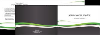faire modele a imprimer depliant 2 volets  4 pages  standard design abstrait MIF45773