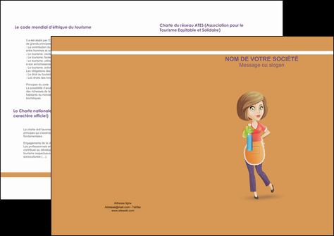 creer modele en ligne depliant 2 volets  4 pages  menagere femme femme au foyer MLGI45791