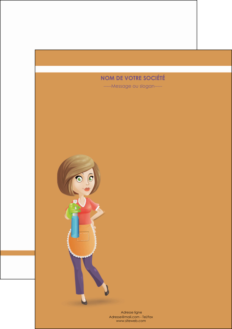 personnaliser maquette flyers menagere femme femme au foyer MLGI45793