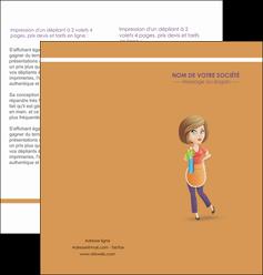 maquette en ligne a personnaliser depliant 2 volets  4 pages  menagere femme femme au foyer MLGI45805