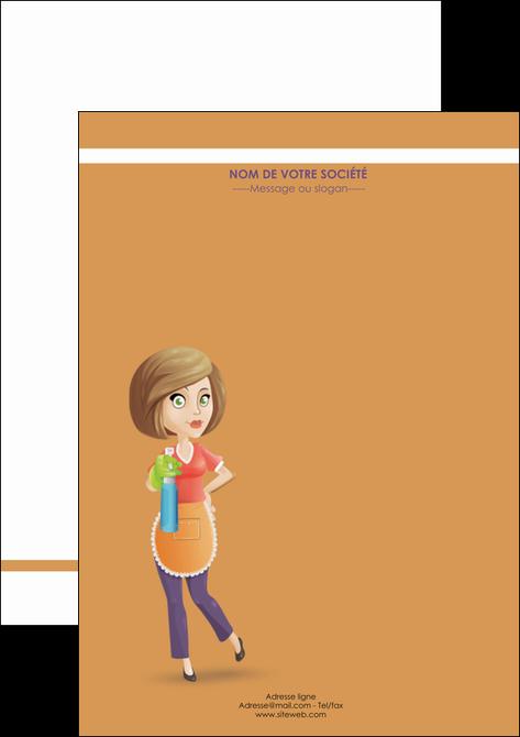 creation graphique en ligne affiche menagere femme femme au foyer MLGI45813
