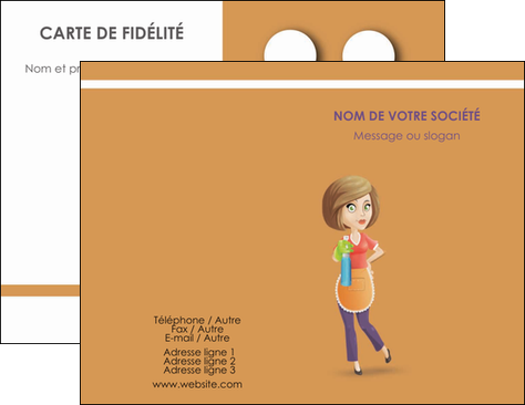 imprimerie carte de visite menagere femme femme au foyer MLGI45819