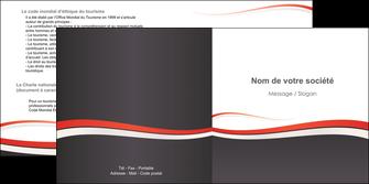 exemple depliant 2 volets  4 pages  texture contexture structure MLIG45845