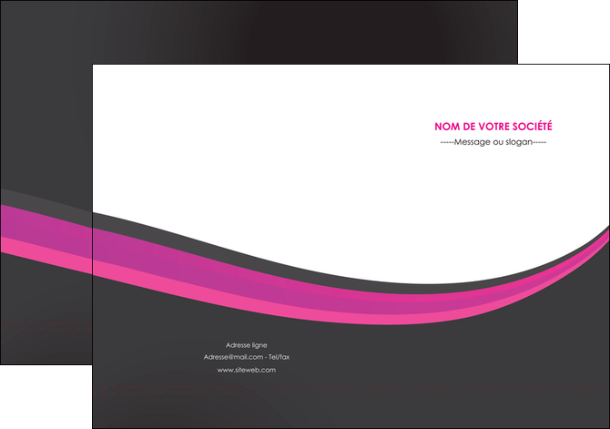 personnaliser maquette pochette a rabat standard texture structure MLGI45897